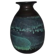 "Studio Art Pottery Vase Signed ""Litchfield"""