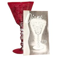 "Cambridge Glass ""Diane"" Etched Water Goblets"