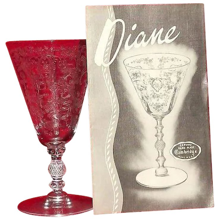 Cambridge Glass Diane Etched Juice Tumbler A Dream Remembered