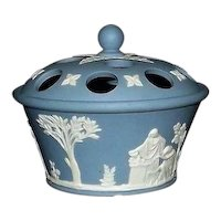 Wedgwood Light Blue Jasperware Potpouri Pot