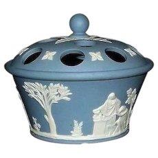 Wedgwood Light Blue Jasperware Potpouri Pot