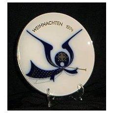KPM 1974 Angel And Horn Christmas Plate