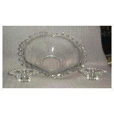 "Heisey ""Lariat"" Fruit Bowl And Candlesticks"