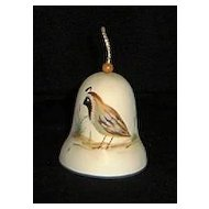 Hand Painted Artist Signed Quail Motif Bell