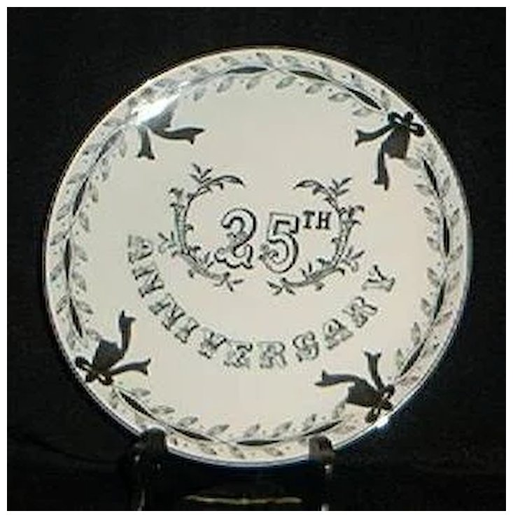 Lefton China 25th Wedding Anniversary Plate A Dream Remembered