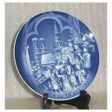Bareuther Christmas Plate For 1972