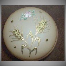 Pink Satin Glass Powder/Vanity Box
