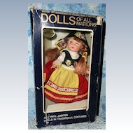 ILLCO Dolls of All Nations No. 142 Switzerland *NRFB