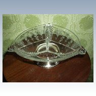 Sterling Silver Base Florentine Divided Dish