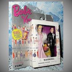 Barbie & Ken Discontinued Two Key Chain Set # 710-1 Enchanted Evening *NIB