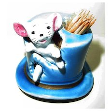Mouse in Hat Tooth Pick Holder