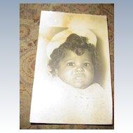Vintage  Black Cuban  Baby Picture