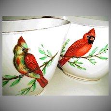 Vintage Rochelle  Cardinal Vases