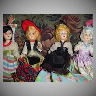 Lot of Vintage  Ethnic Cake Dolls