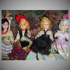 Lot of Vintage  Ethnic Cake Dolls