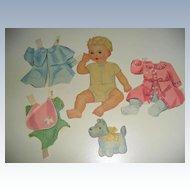 BILLIE 1920's Baby Paper Doll