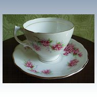 Royal Vale Pink Flowers  Cup Duo *England