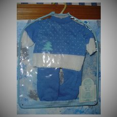 1986 'Totsy' Blue Knitted Outfit  *MINT