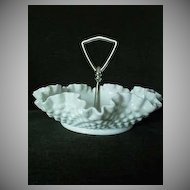 Fenton Milk Glass Tray