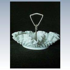Fenton Milk Glass Tray