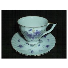Pretty Demitasse Violet Duo by Lefton