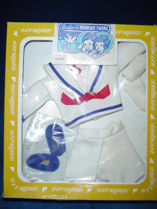 8097c8be4 1982 Effanbee Bobbsey Twins FREDDIE Go A Sailing Sailor Outfit : Cixi's  Collectibles   Ruby Lane