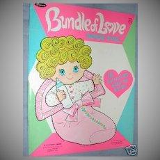 1959 ' Bundle of Love ' Uneeda Paper Dolls *Uncut