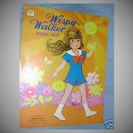 1976  'Wispy Walker' Paper Dolls by Uneeda
