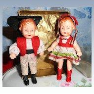 Twin Celluloid German Dolls