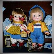Effanbee Half-Pint Twin Swiss Yodelers Boy and Swiss Yodelers  Girl