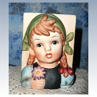 Girl with Daisy Bisque  Planter
