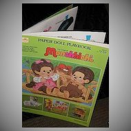 1983 Monchhichi Paper Doll Playbook *Uncut