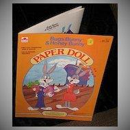 1983 Bugs Bunny & Honey Bunny Paper Dolls *Uncut!