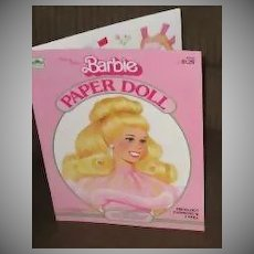1983 Pink & Pretty Barbie Paper Dolls