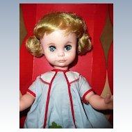 """1964  Uneeda 15"""" Coquette Doll in Box"""