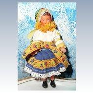 "Cute Little Vinyl  4"" German Doll"