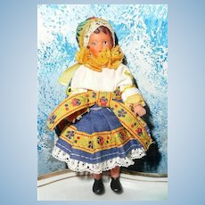 "Cute Little Vinyl  4"" German Doll"