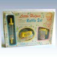Little Helper Rattle Set 1950's New in Box