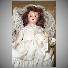 1940's Composition Virga Doll #160 Bride *New  in Box