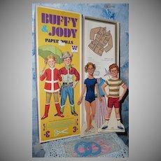 1970 Whitman BUFFY & JODY Paper Dolls *Mint!