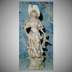 Vintage German Porcelain Victorian Lady