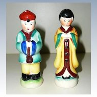 Chinese Couple Salt and Pepper Shakers