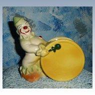 Vintage Pottery Band Clown Planter