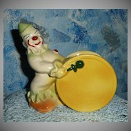 Vintage Pottery Band Clown Planter