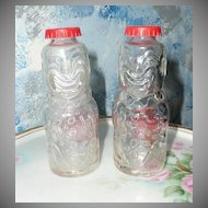 Brockway Bozo The Clown Set of Glass Shakers