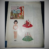 1954 McCall Magazine Betsy McCall 'It's Topsy-Turvy'  Paper Dolls
