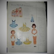 1954 McCall Magazine Betsy McCall & Linda McCall  Paper Dolls