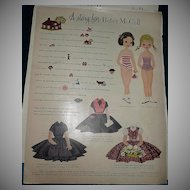 1955  McCall Magazine Betsy & Barbara  McCall  Paper Dolls