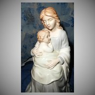Beautiful Madonna or  Mother with Child Homco Porcelain