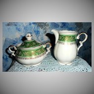 Mitterteich US Zone Set of Sugar with Lid and Creamer